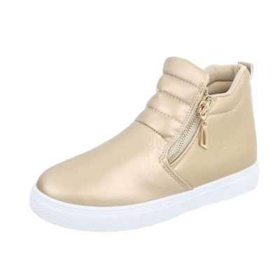 Sneakers high für Damen in Gold