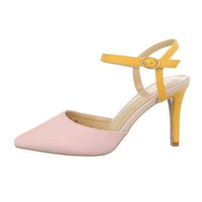 Schnür- & Riemchenpumps für Damen in Rosa und Gelb