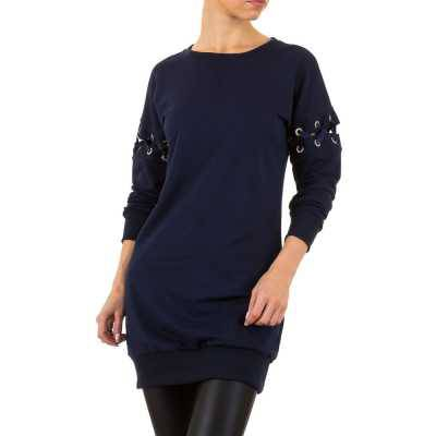 Longpullover/Tunika für Damen in Blau