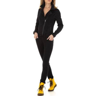 Langer Jumpsuit für Damen in Schwarz