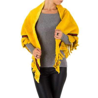 Poncho/Cape für Damen in Gelb