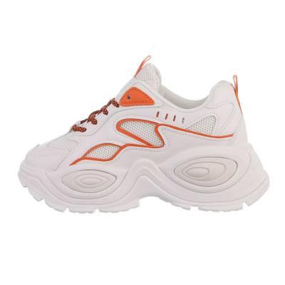 Sneakers Low für Damen in Beige und Orange