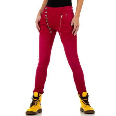 Boyfriend Jeans für Damen in Rot