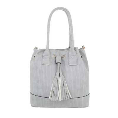 Mittelgroße Damen Tasche Hellgrau