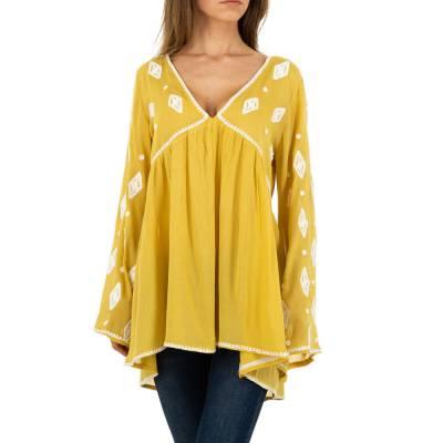 Longbluse für Damen in Gelb