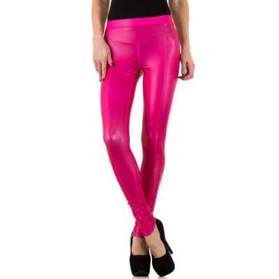 Leggings in Lederoptik für Damen in Rosa