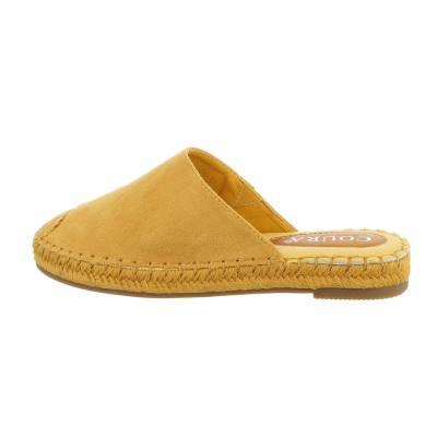 Pantoletten für Damen in Gelb