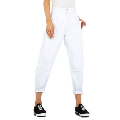 Relaxed Fit Jeans für Damen in Weiß und Weiß
