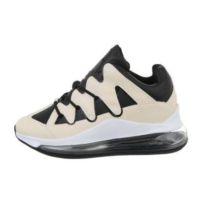 Sneakers low für Damen in Beige und Schwarz