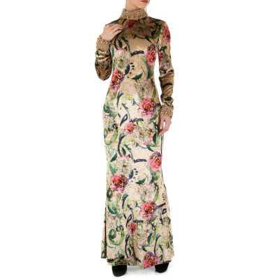 Abendkleid für Damen in Beige