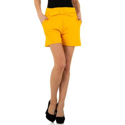 High Waist Shorts für Damen in Gelb