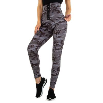 Klassische Leggings für Damen in Grau und Camouflage