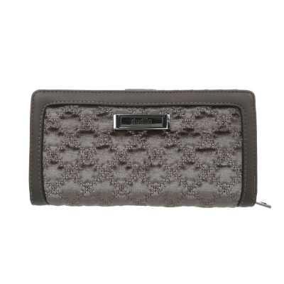 Portemonnaie Damen Geldbörse Grau