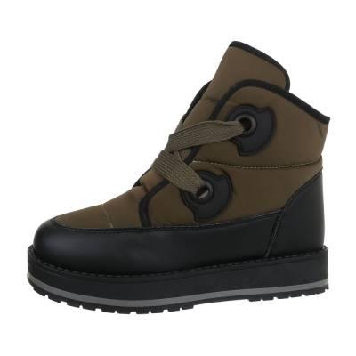 Sneakers high für Damen in Braun und Schwarz