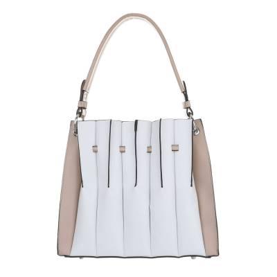 Mittelgroße Damen Tasche Weiß Beige