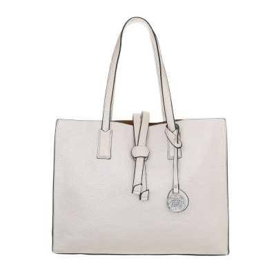Große Damen Tasche Weiß Braun