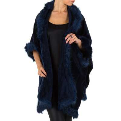 Poncho/Cape für Damen in Blau