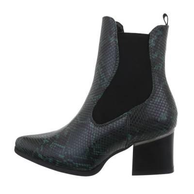 Chelsea Boots für Damen in Grün und Schwarz