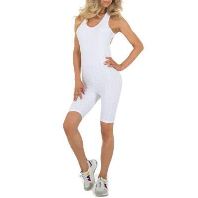 Kurzer Jumpsuit für Damen in Weiß