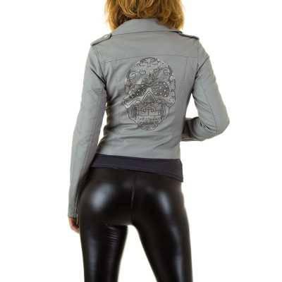 Bikerjacke für Damen in Grau