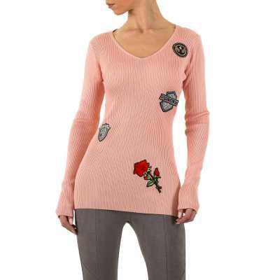 Strickpullover für Damen in Rosa