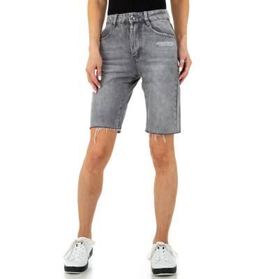 Jeansshorts für Damen in Grau