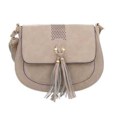 Kleine Damen Tasche Beige Grau