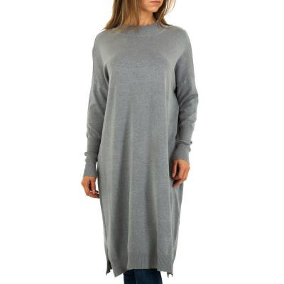 Strickkleid für Damen in Grau
