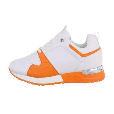 Sneakers low für Damen in Weiß und Orange