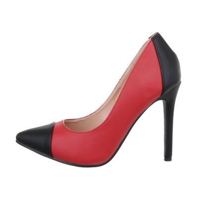 High Heel Pumps für Damen in Rot und Schwarz
