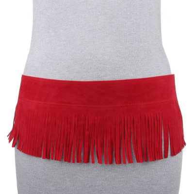 Moderner Damen Gürtel Rot