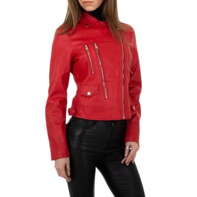 Bikerjacke für Damen in Rot