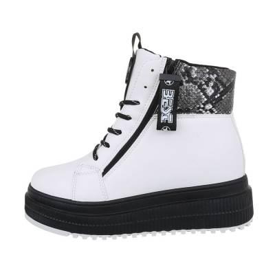 Sneakers high für Damen in Weiß und Schwarz