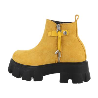 Plateaustiefeletten für Damen in Gelb