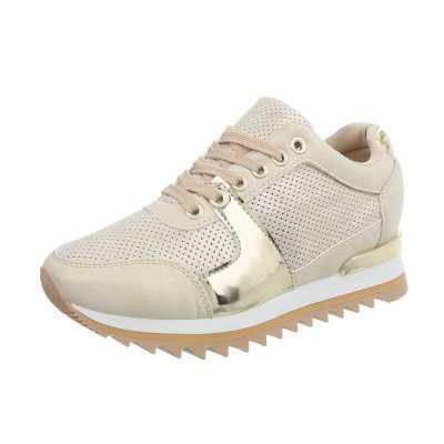 Sneakers low für Damen in Beige und Gold