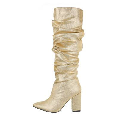 High Heel Stiefel für Damen in Gold