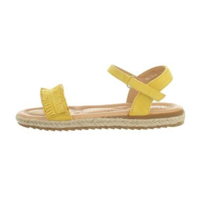 Mädchen Kinder Sandalen Gelb