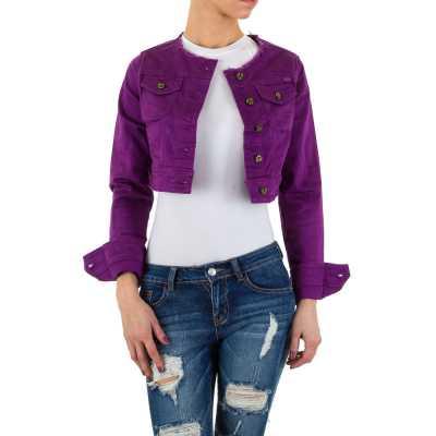 Jeansjacke für Damen in Lila