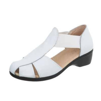 Riemchensandalen für Damen in Weiß