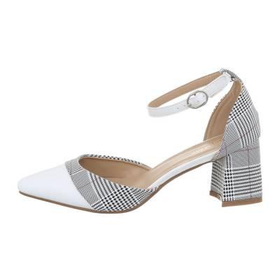 Schnür- & Riemchenpumps für Damen in Weiß und Grau