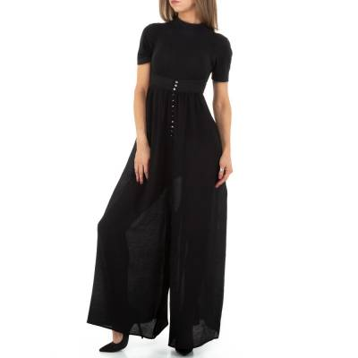 Latzhose für Damen in Schwarz