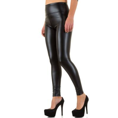 Leggings in Lederoptik für Damen in Schwarz