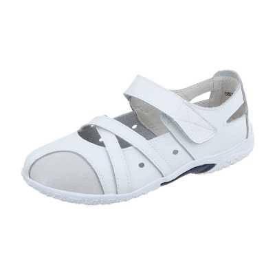 Riemchenballerinas für Damen in Weiß