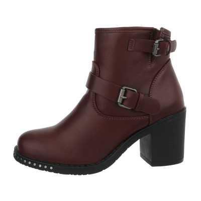 High Heel Stiefeletten für Damen in Rot und Braun