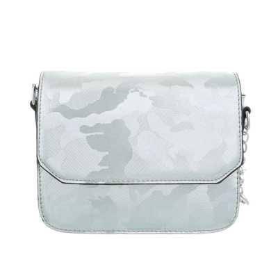 Sehr Kleine Damen Tasche Blau Silber