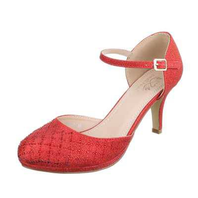 Schnür- & Riemchenpumps für Damen in Rot