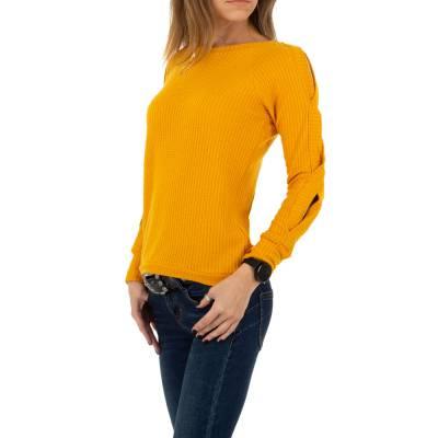 Strickpullover für Damen in Gelb