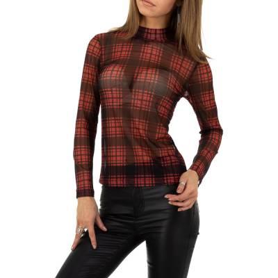 Langarmshirt für Damen in Rot