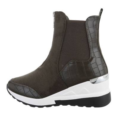 Sneakers High für Damen in Khaki