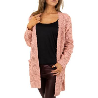 Strickjacke für Damen in Rosa